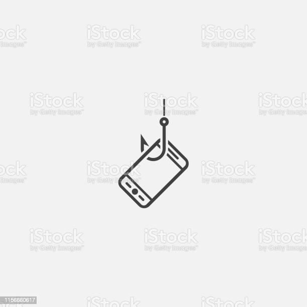 Mobile Phishing Base Icon Simple Sign Illustration Mobile Phishing Symbol Design Can Be Used For Web Print And Mobile - Immagini vettoriali stock e altre immagini di Computer
