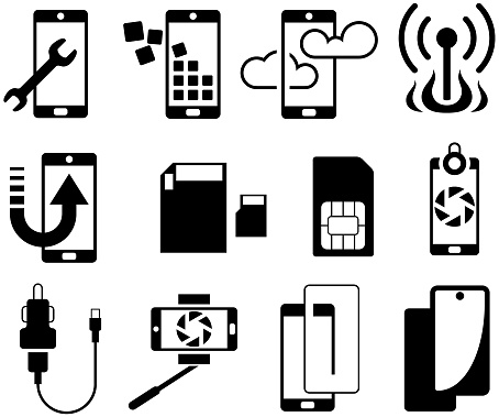 Mobile Phone Accessories Icons