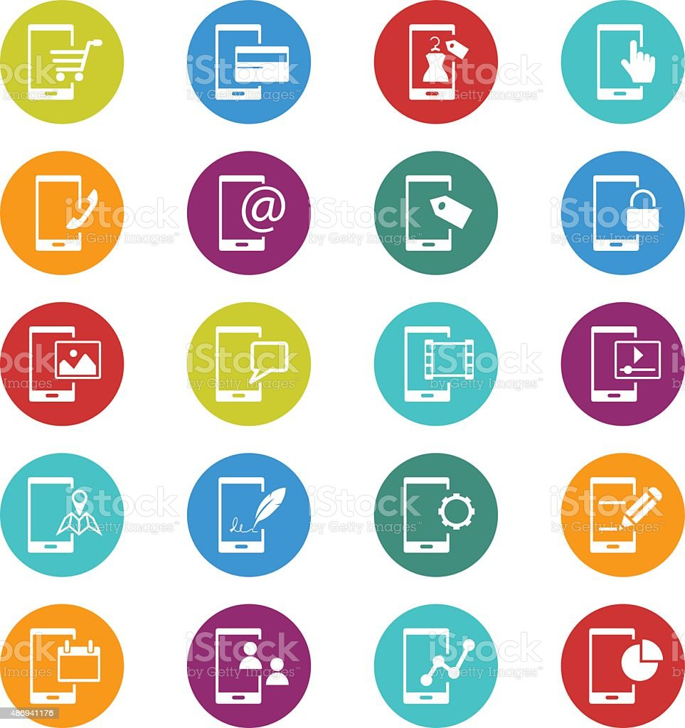 Mobile phone and business icon set stock vector art 486941176 istock mobile phone and business icon set royalty free stock vector art magicingreecefo Gallery
