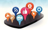 Mobile phone apps concept illustration.