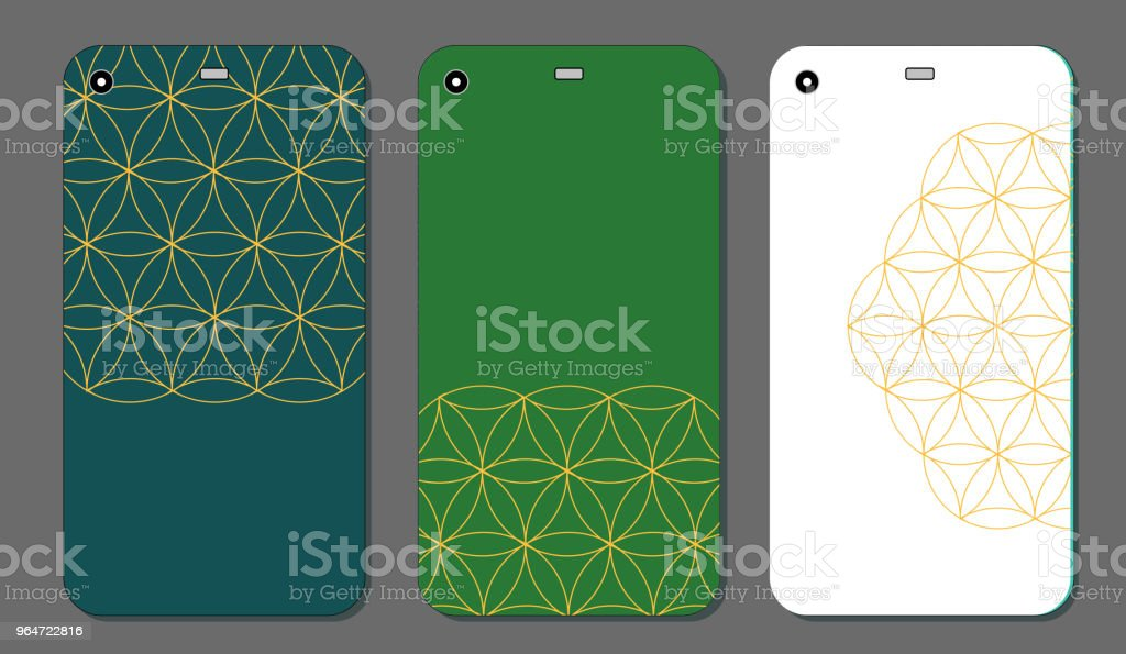 Mobile phone case design. Abstract decorative ornament. Vector graphics. royalty-free mobile phone case design abstract decorative ornament vector graphics stock vector art & more images of abstract