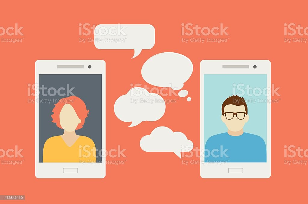 Mobile phone chat or call royalty-free mobile phone chat or call stock vector art & more images of 2015