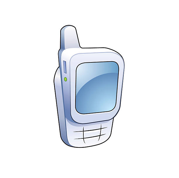 Mobile phone detailed vector icon vector art illustration