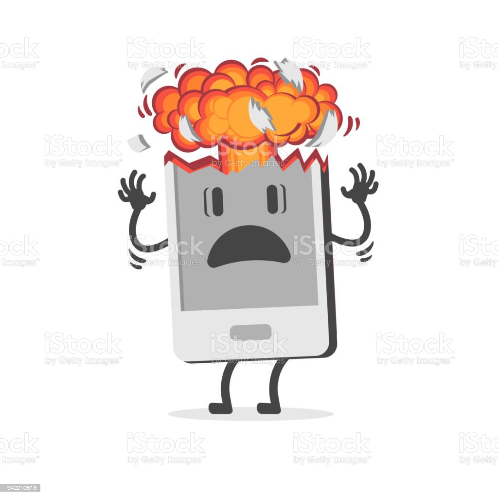 Mobile Phone Exploding Due To Overheating Or Swelling Of The Battery ...