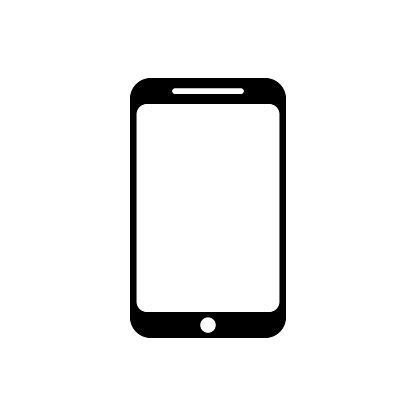 Symbole Téléphone Portable Icône Vector Plat Style