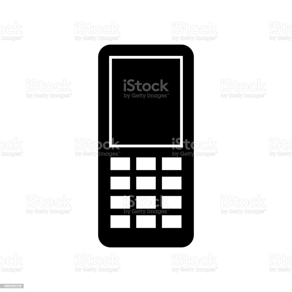 Mobile Phone Icon Vector Icon Simple Element Illustration Mobile