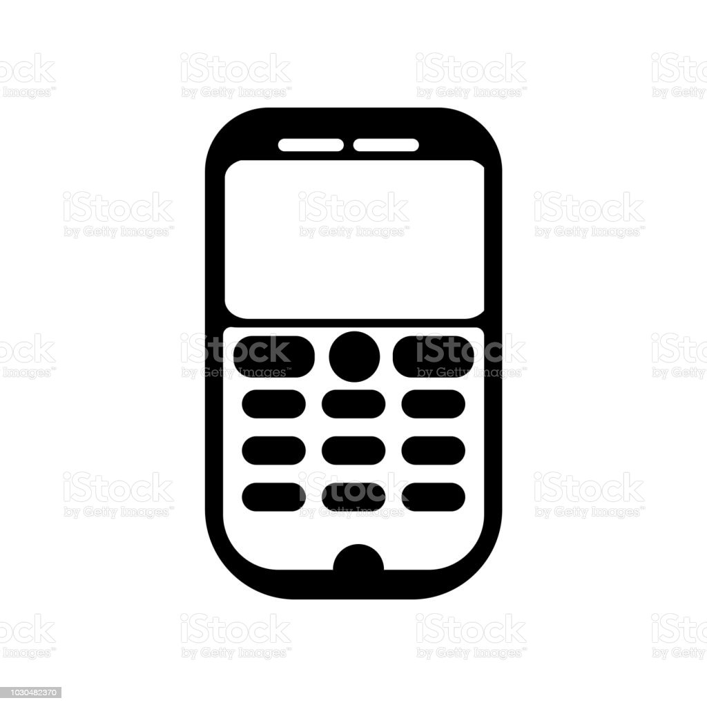 Mobile Phone Icon Vector Sign And Symbol Isolated On White
