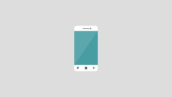 Mobile phone iPhone icon blank screen mockup