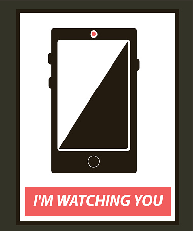 mobile phone is watching you, concept