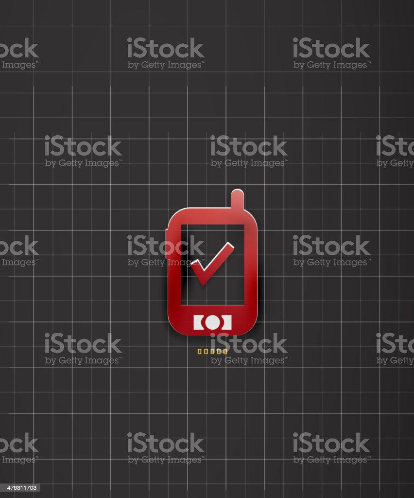 Mobile phone paper background royalty-free stock vector art