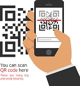 Mobile phone reads the QR code.