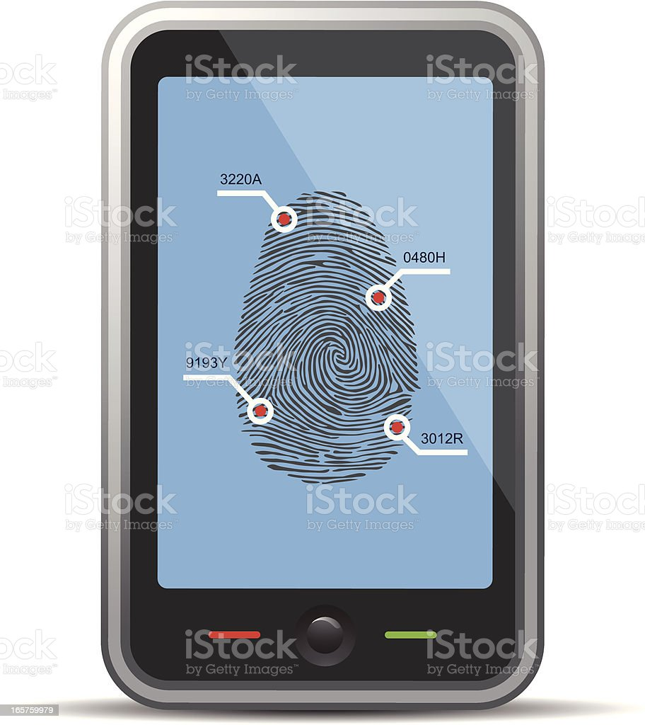 Mobile phone security royalty-free stock vector art