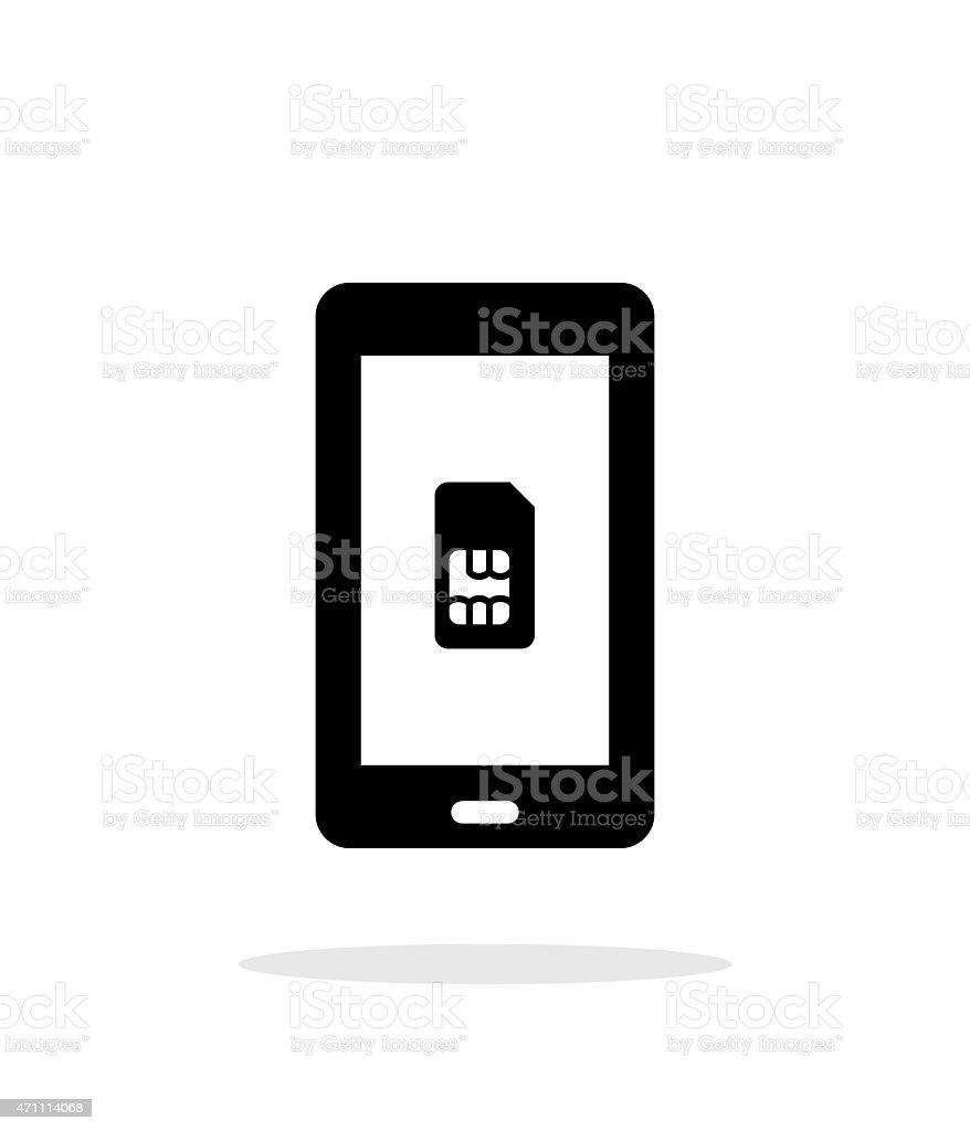 Cellulare Per Scheda Sim Semplice Icona Su Sfondo Bianco Immagini