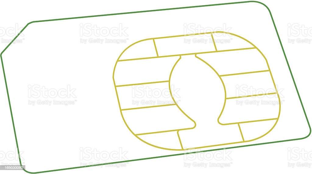 Mobile Phone Sim Card - Wireframe royalty-free mobile phone sim card wireframe stock vector art & more images of 3g