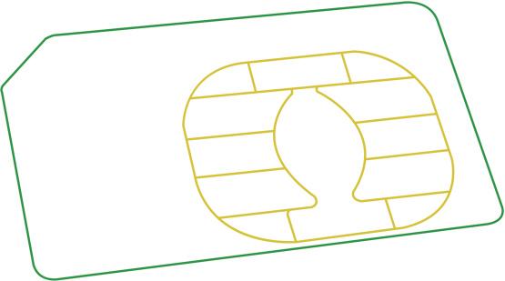 Mobile Phone Sim Card - Wireframe