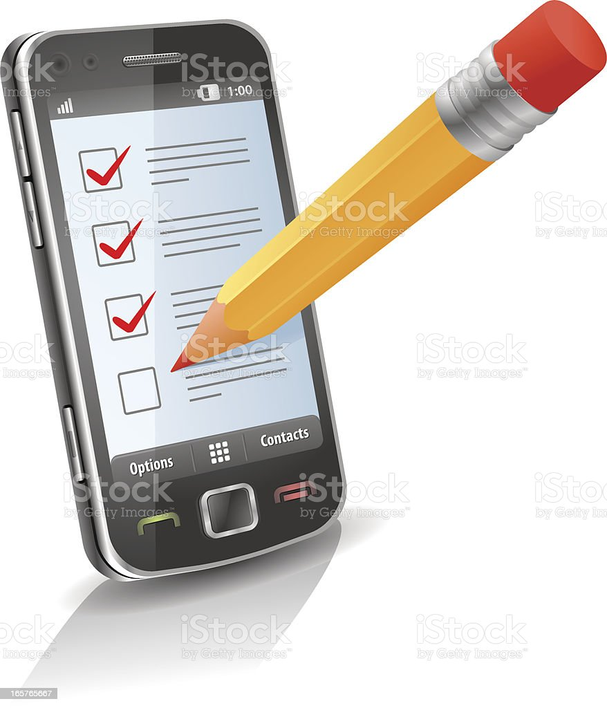 Mobile phone survey royalty-free mobile phone survey stock vector art & more images of abstract
