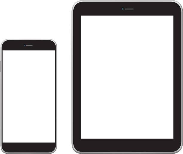 Mobiltelefon, Tablet und Laptop – Vektorgrafik