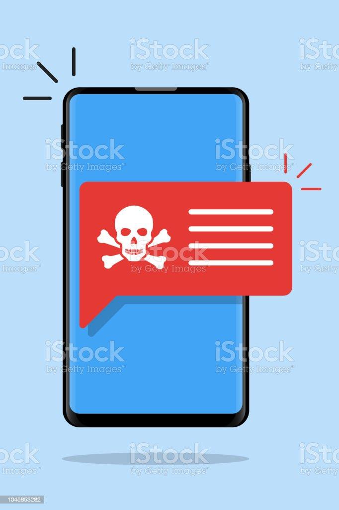 Mobile Phone Toxic Safety Hazard Danger Harmful Malware Virus Sign