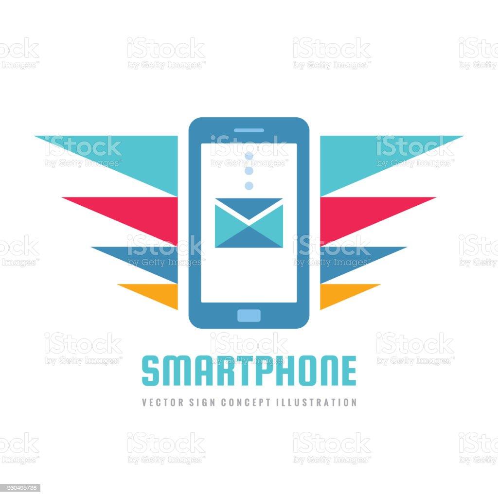 Handygeschäft Zeichen Konzept Vektorgrafik Smartphone Kreative ...