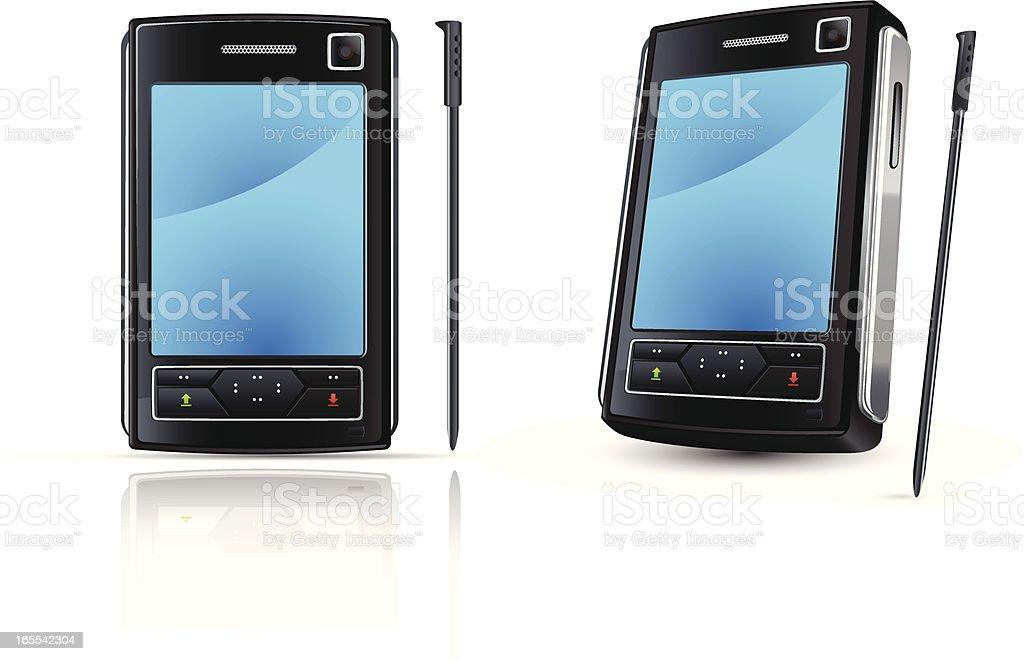 mobile phone (communicator) royalty-free stock vector art