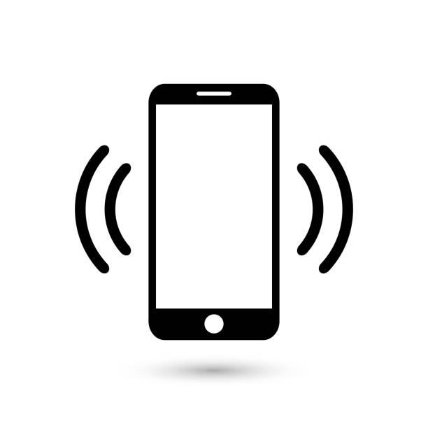 illustrazioni stock, clip art, cartoni animati e icone di tendenza di icona vettoriale piatta vibrante o squillante del telefono cellulare per app e siti web - smart phone