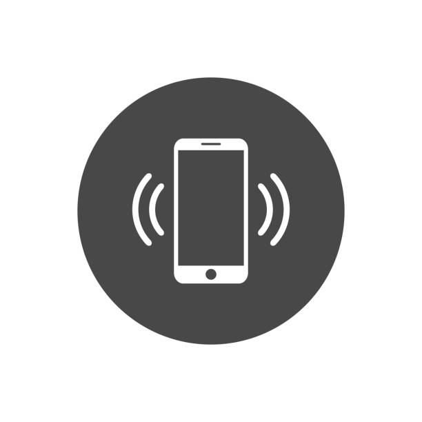 mobile phone vibrating or ringing flat vector icon for apps and websites - call center stock illustrations