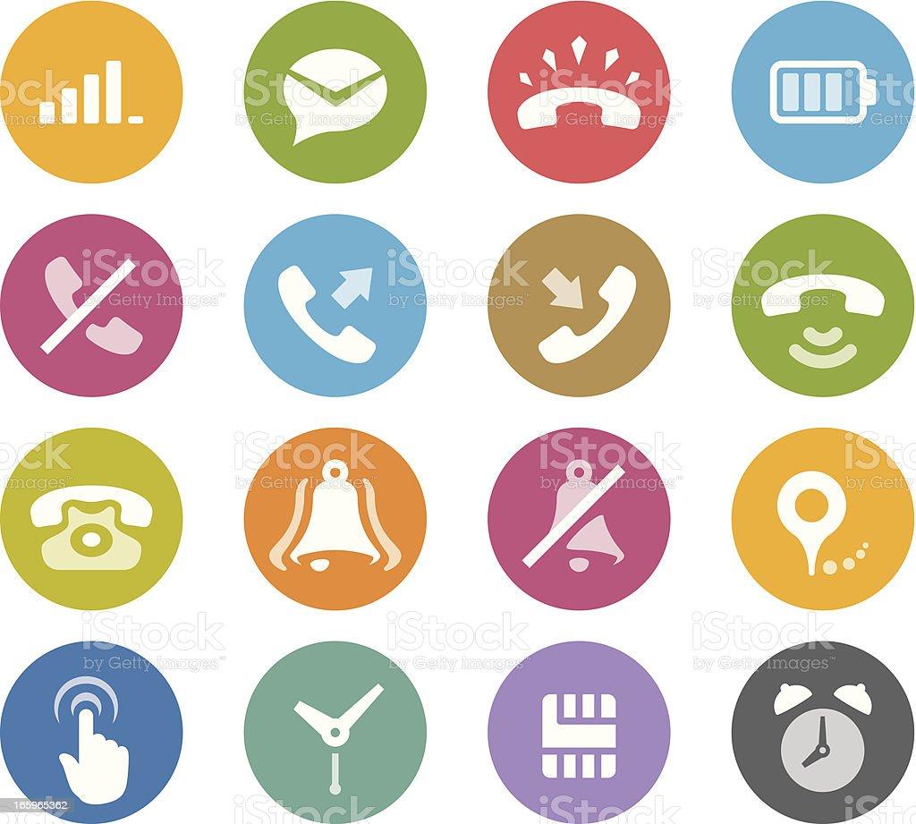 Mobile Phone / Wheelico icons royalty-free mobile phone wheelico icons stock vector art & more images of alarm clock