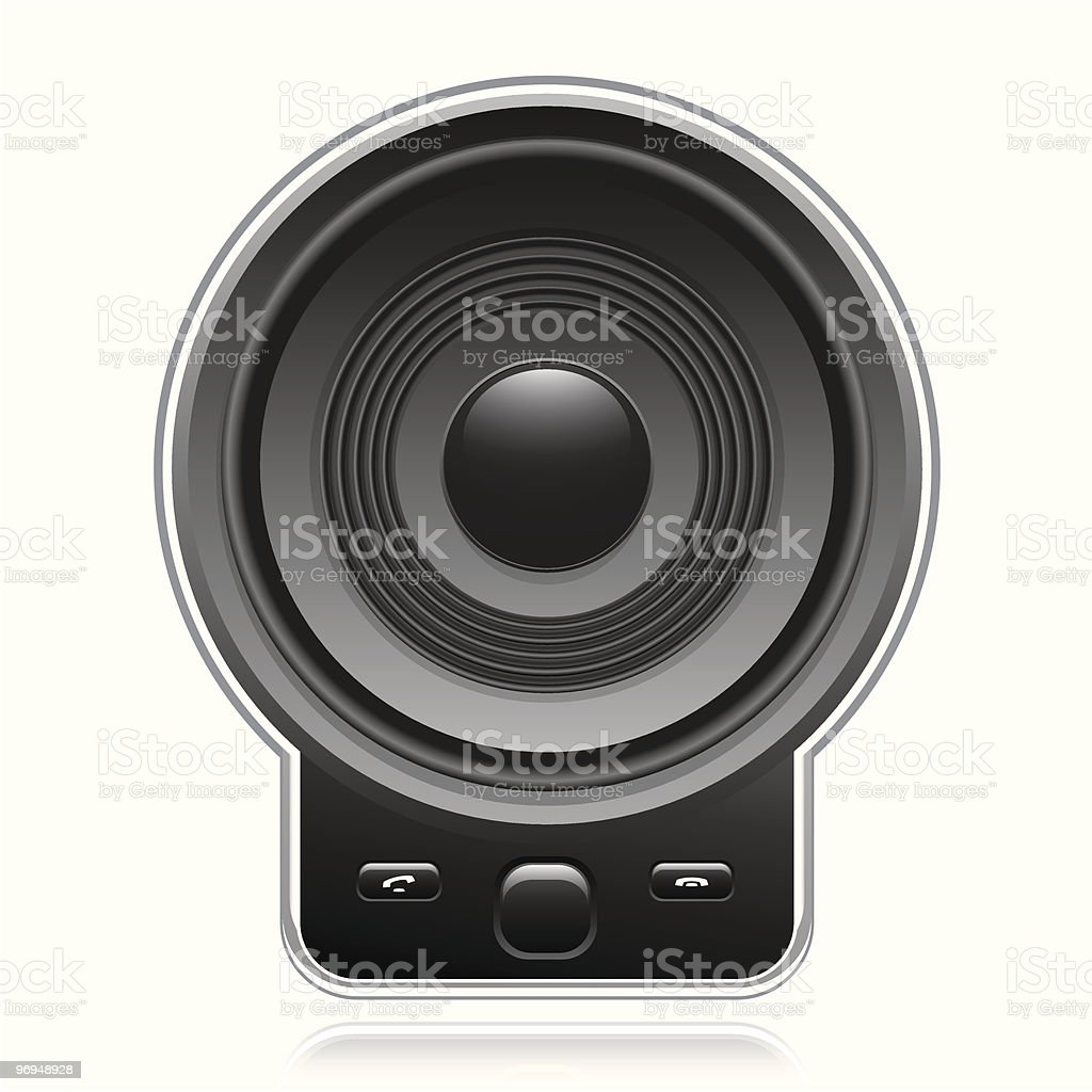 Mobile phone with large speaker royalty-free mobile phone with large speaker stock vector art & more images of audio equipment