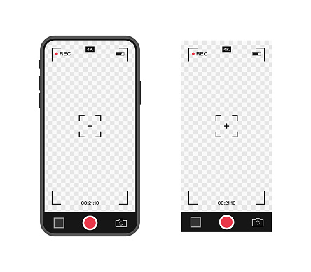 Mobile Phone With Record Frame Camera Viewfinder Template
