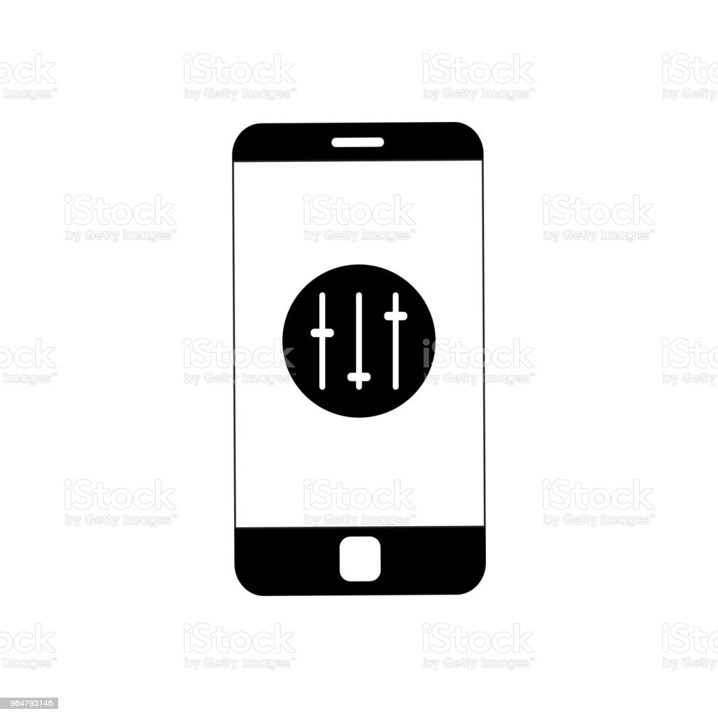 Mobile phone with wi-fi icon on screen royalty-free mobile phone with wifi icon on screen stock vector art & more images of backgrounds