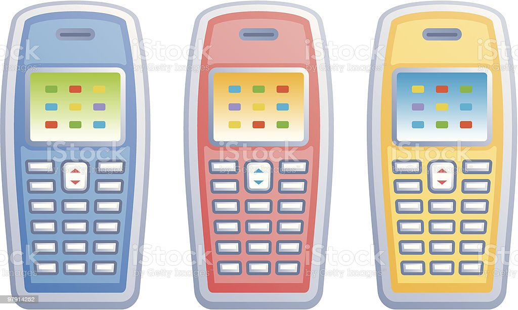 Mobile phones vector icons royalty-free mobile phones vector icons stock vector art & more images of clip art