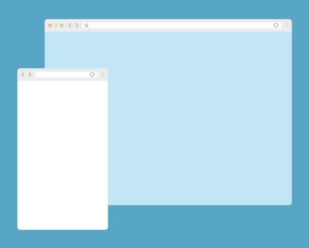 Mobile Platform Web Template vector art illustration