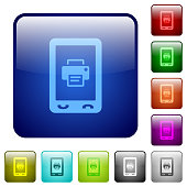 Mobile printing color square buttons