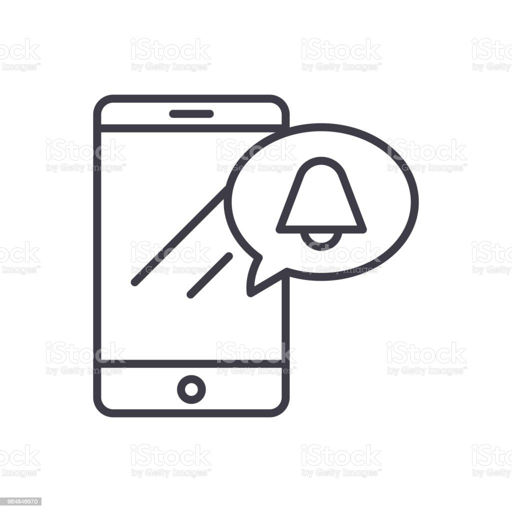 Mobile ringtone black icon concept. Mobile ringtone flat  vector symbol, sign, illustration. royalty-free mobile ringtone black icon concept mobile ringtone flat vector symbol sign illustration stock vector art & more images of alertness