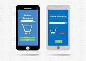 Mobile screen interface design or Mobile app layout design.  EPS10, vector.