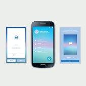 Mobile Screens User Interface Kit. Modern user interface UX, UI
