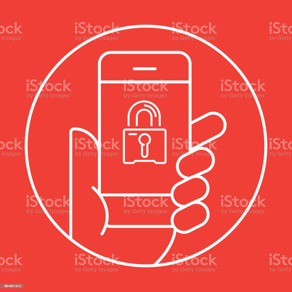Mobile Security Icon Concept royalty-free mobile security icon concept stock illustration - download image now