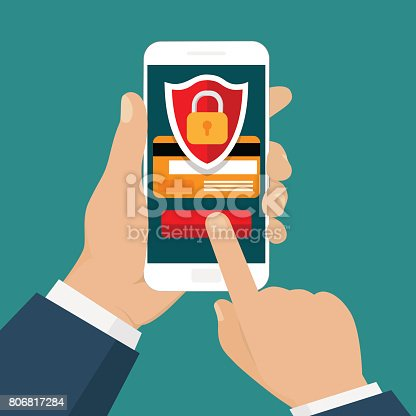 istock Mobile security. 806817284