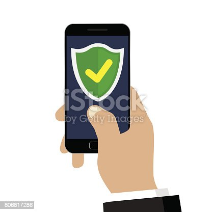 istock Mobile security. 806817286