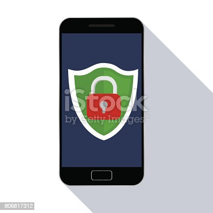 istock Mobile security. 806817312