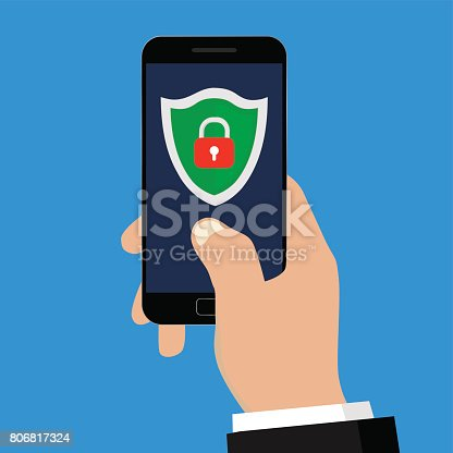 istock Mobile security. 806817324