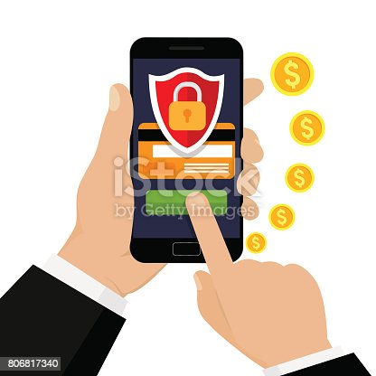 istock Mobile security. 806817340
