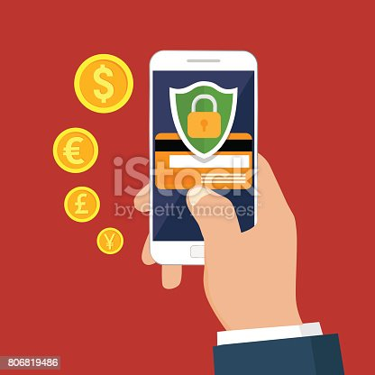 istock Mobile security. 806819486