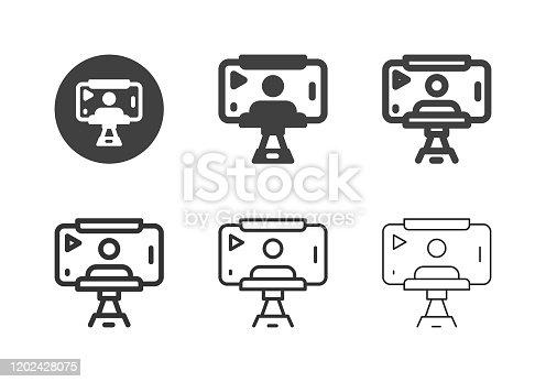 istock Mobile Selfie Record Icons - Multi Series 1202428075