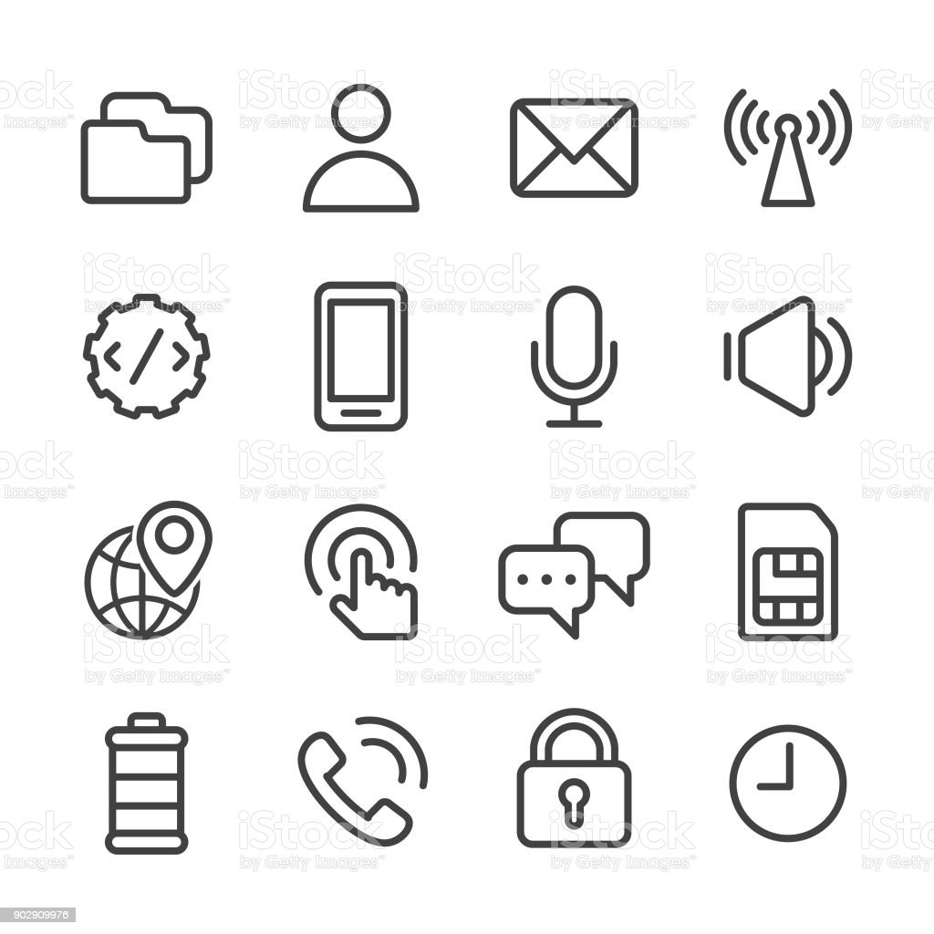 Mobile Setting Icons - Line Series
