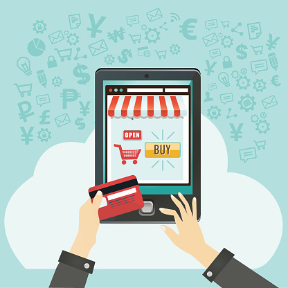 mobile shopping or ecommerce