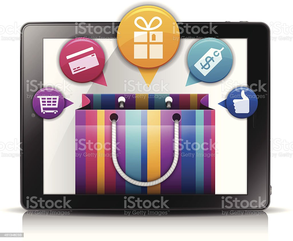 Mobile Shopping royalty-free stock vector art