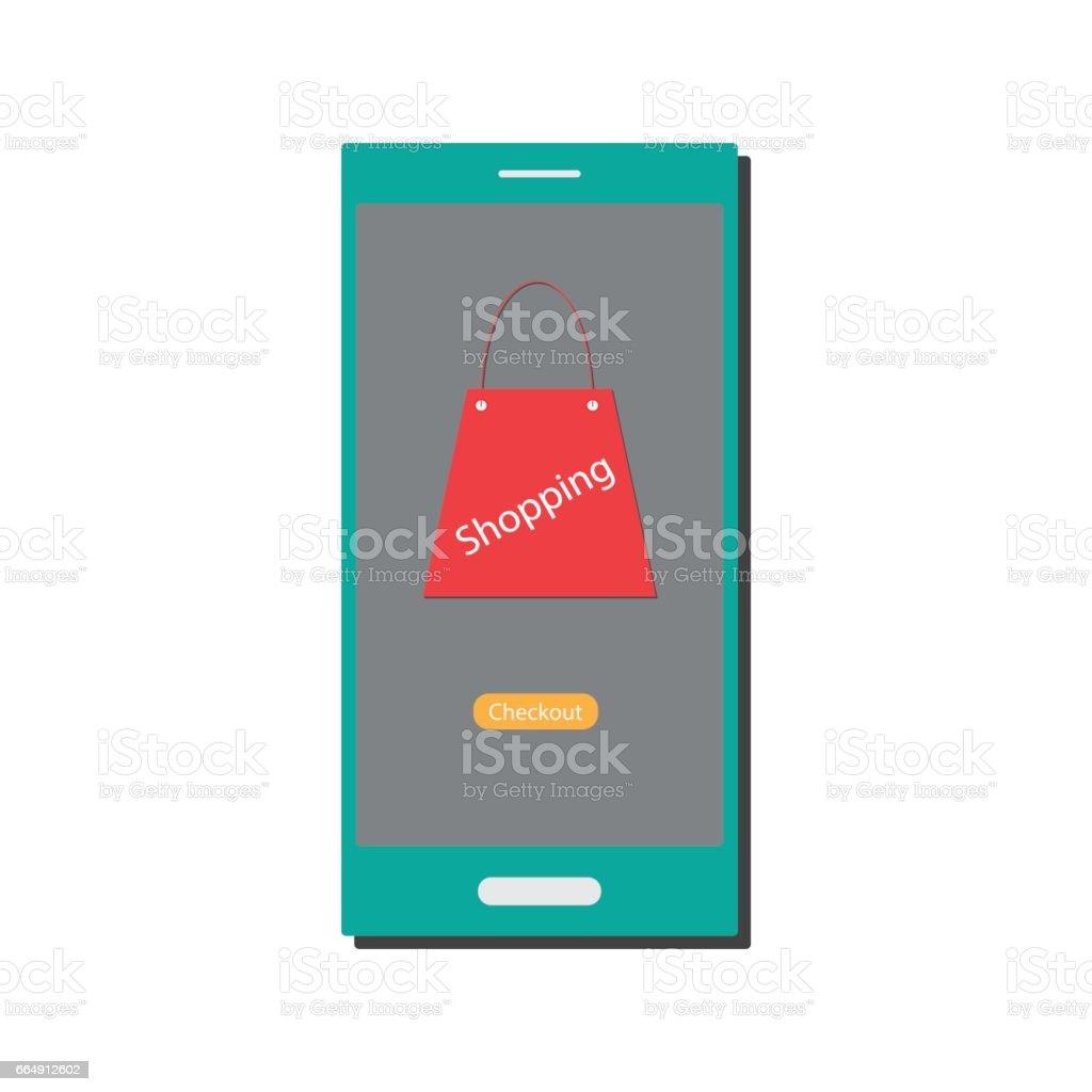 Mobile shopping mobile shopping - immagini vettoriali stock e altre immagini di affari royalty-free