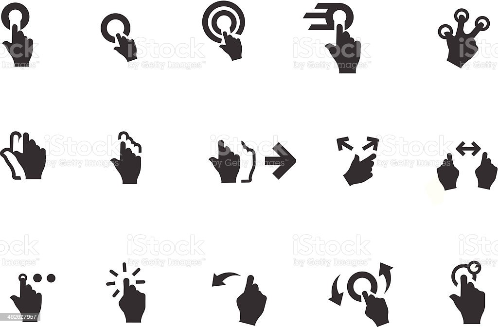 Mobile Swipe Hand Gesture vector art illustration