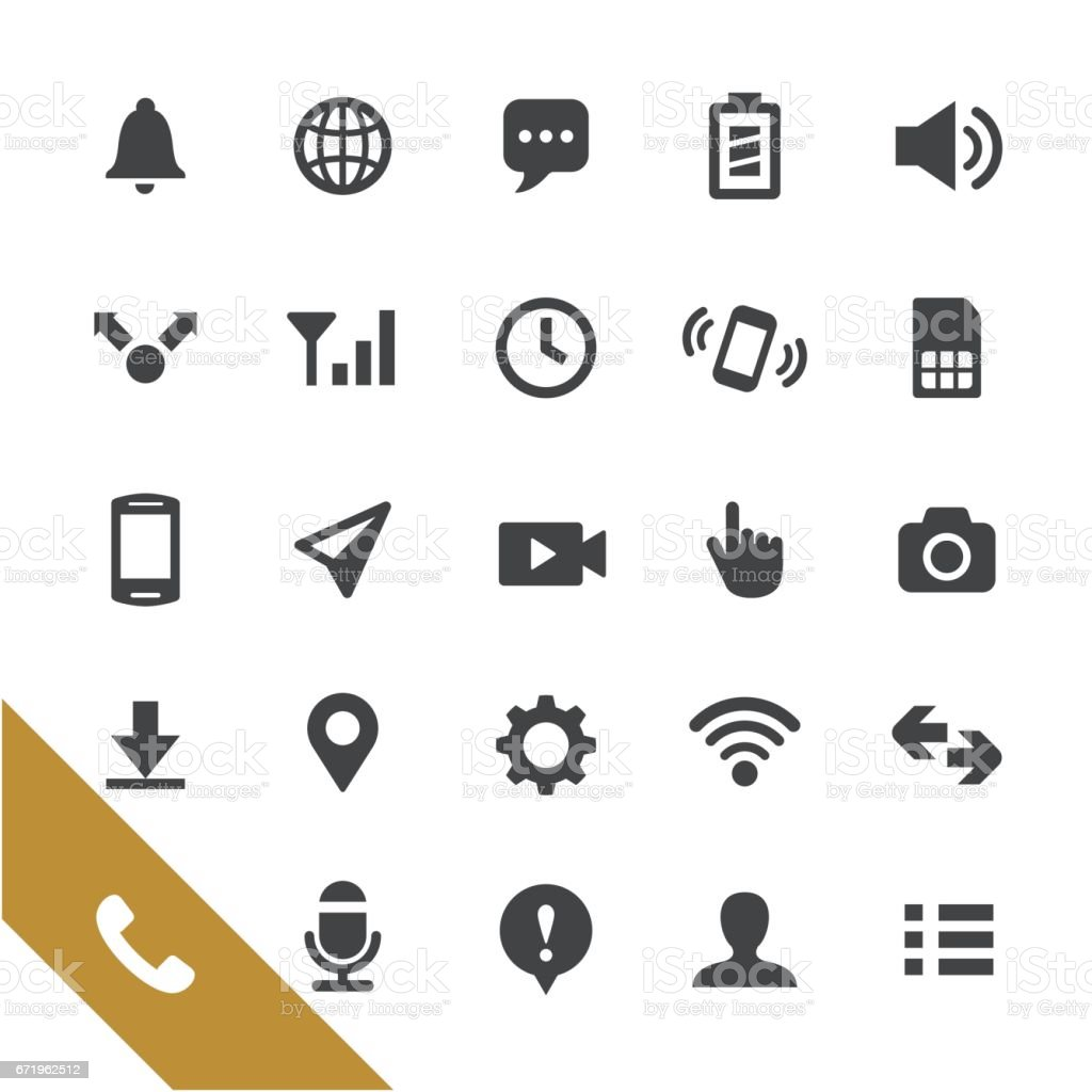 Mobile Telecom Icons - Select Series vector art illustration